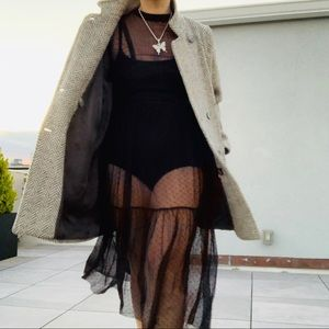 Who What Wear Boho Sheer Full Lace Mesh Long Dress